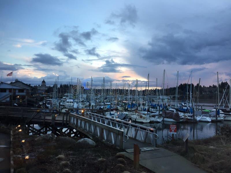 Canale navigabile Intracoastal, Wilmington, Nord Carolina fotografia stock libera da diritti