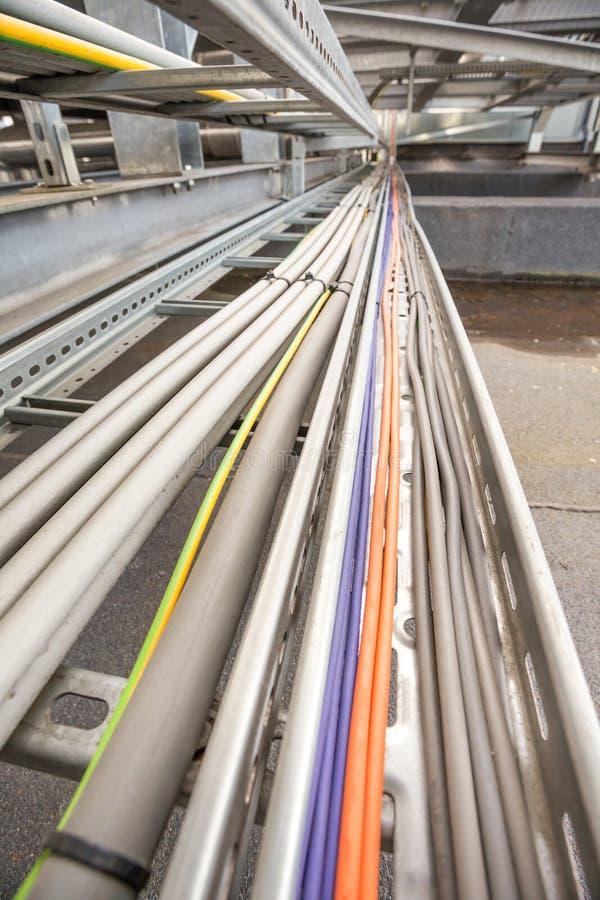 Canale per cavi elettrico immagini stock libere da diritti