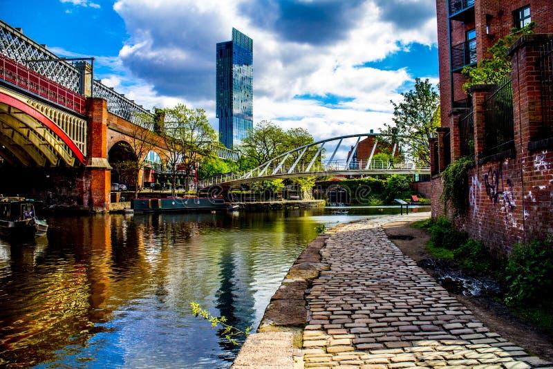 Canale Regno Unito Inghilterra di Manchester fotografie stock libere da diritti