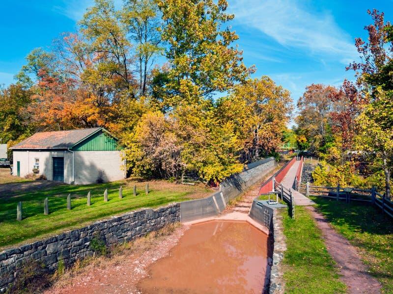 Canale storico del Delaware fotografia stock