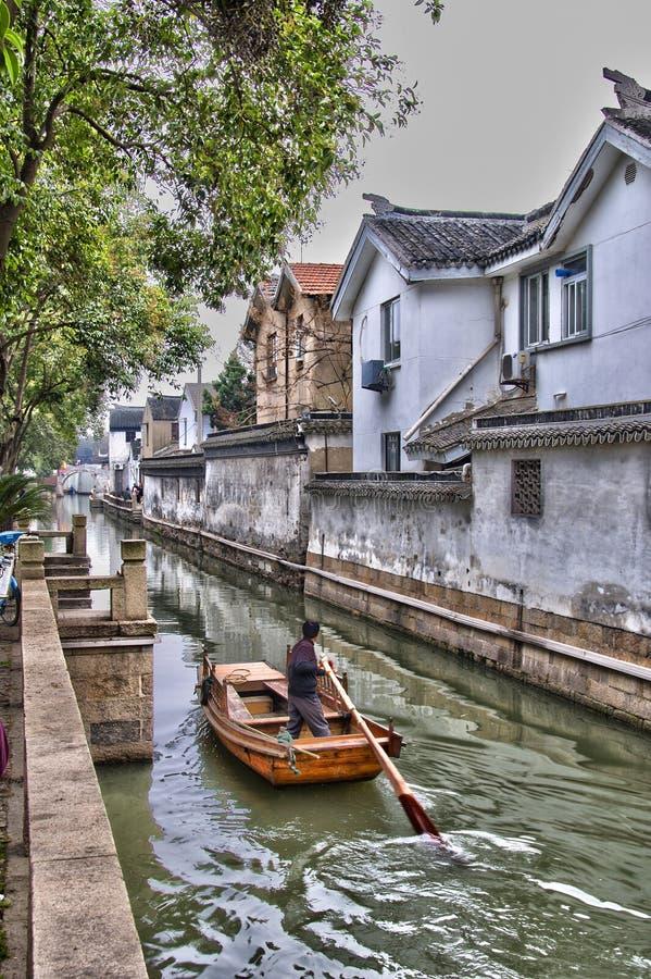 Canale, Suzhou, Cina fotografia stock