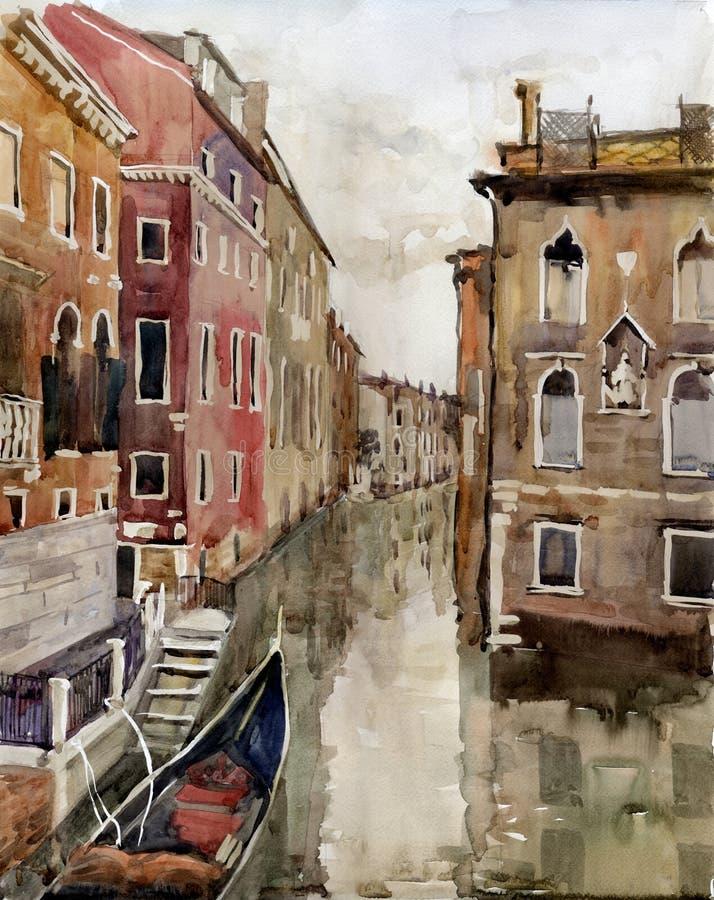 Canale a Venezia illustrazione vettoriale