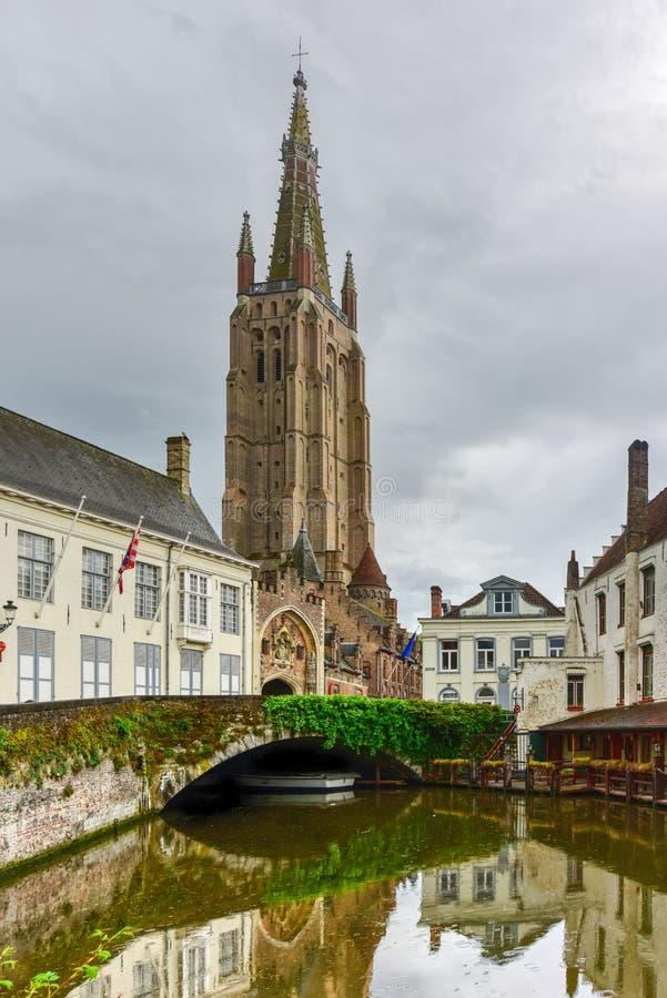 Canales de Brujas, Bélgica fotografía de archivo