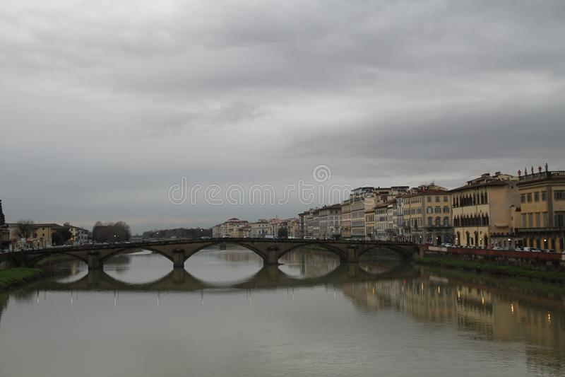 Canales de Florencia foto de archivo