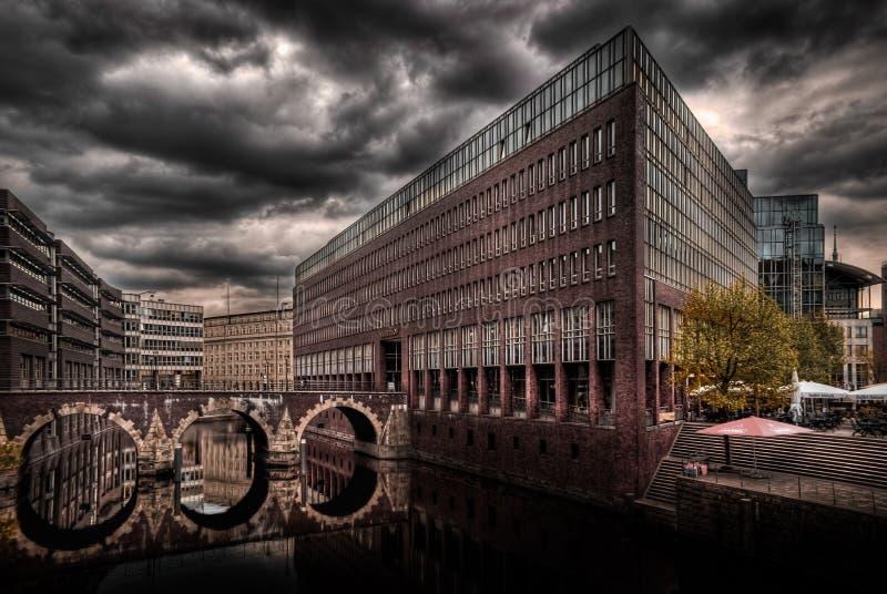 Canales de Hamburgo imagen de archivo
