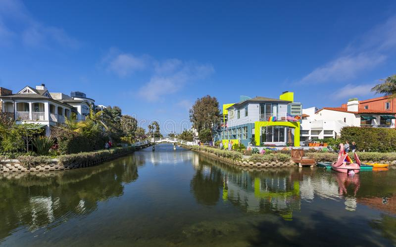Canales de Venecia, Venice Beach, Los Angeles, California, los Estados Unidos de América, Norteamérica foto de archivo libre de regalías