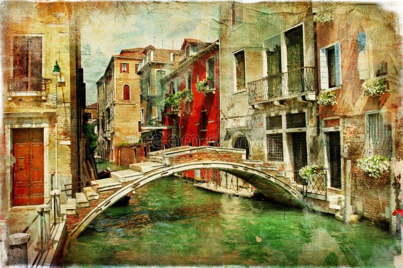 Canales venecianos fotografía de archivo