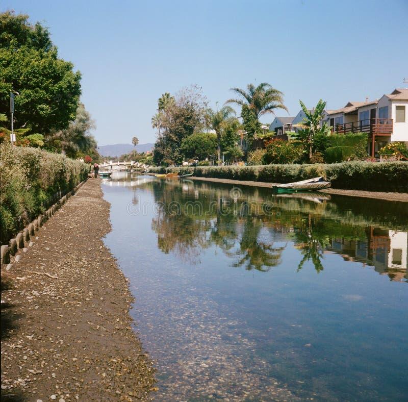 Canali della spiaggia di Venezia fotografia stock