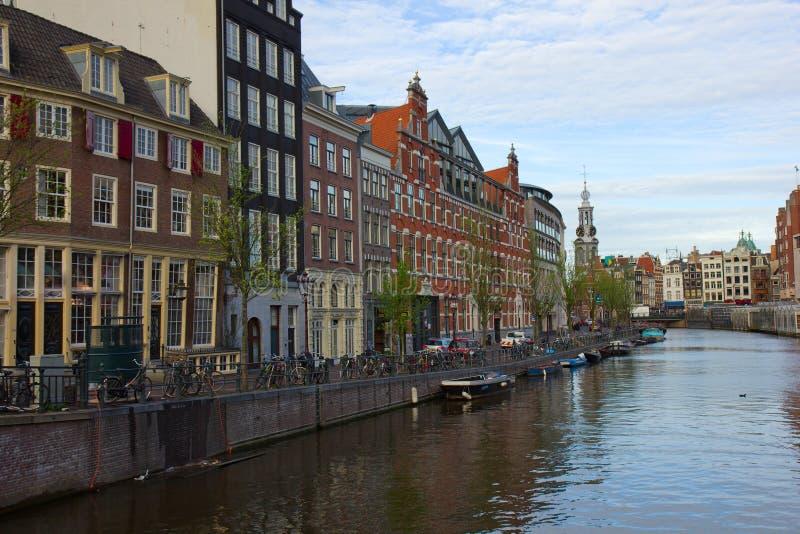 Canali di Amsterdam, Paesi Bassi fotografia stock