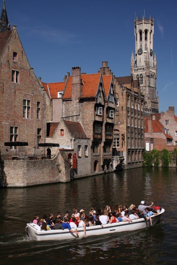 Canali di Bruges fotografie stock libere da diritti