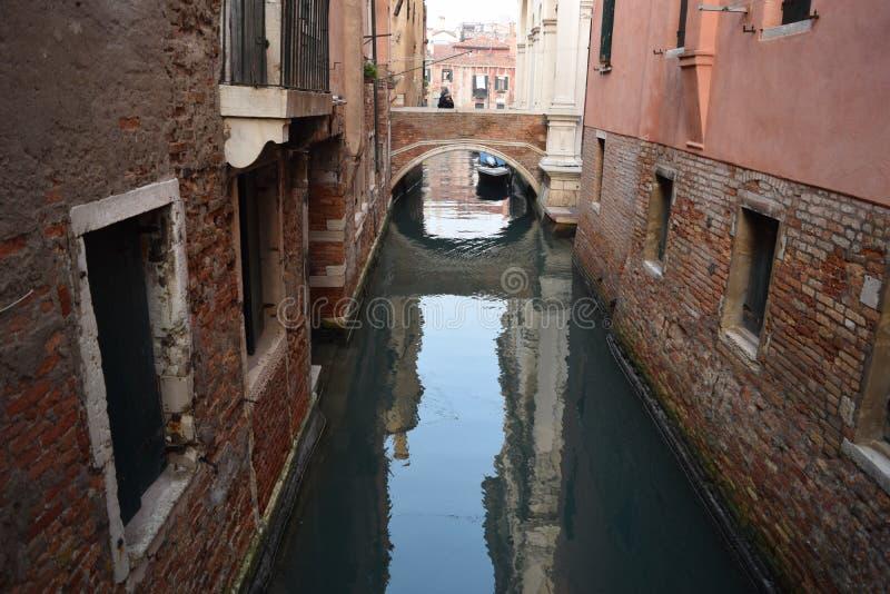 Canali di Venezia fotografia stock