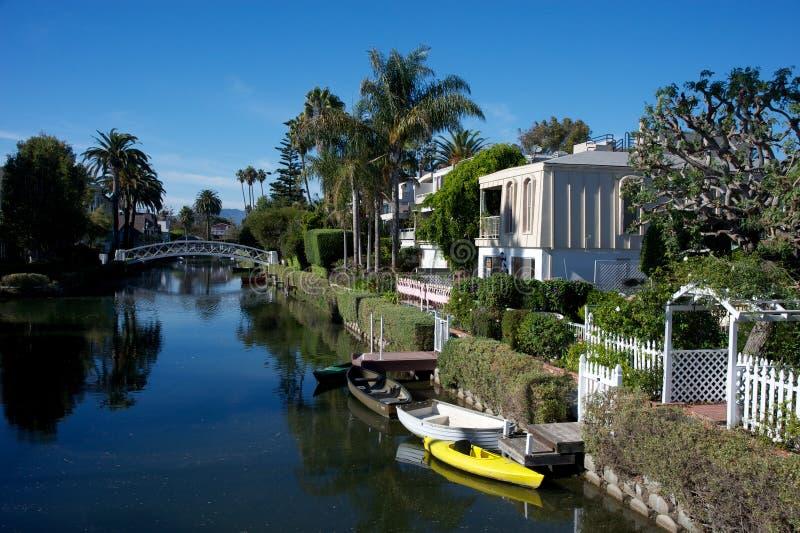 Canali di Venezia, Los Angeles fotografie stock libere da diritti