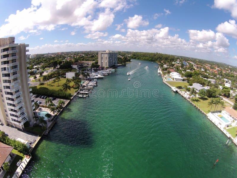 Canali navigabili di Florida fotografia stock