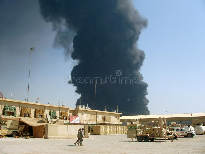 Canalisation attack2 Bagdad 07 image stock