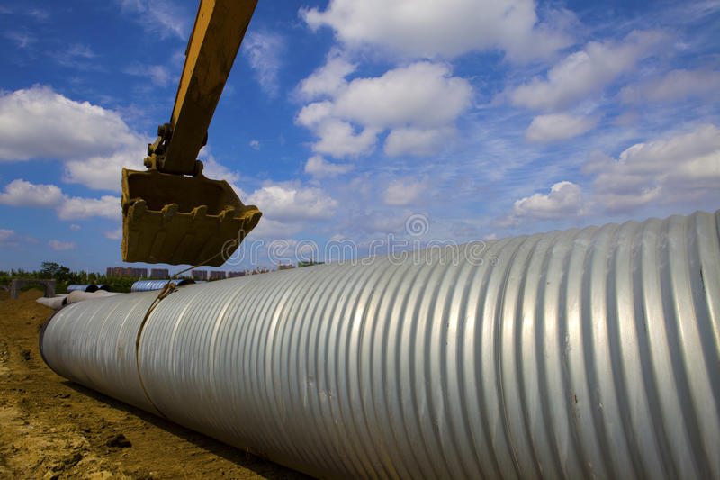 Canalisation de drainage images stock