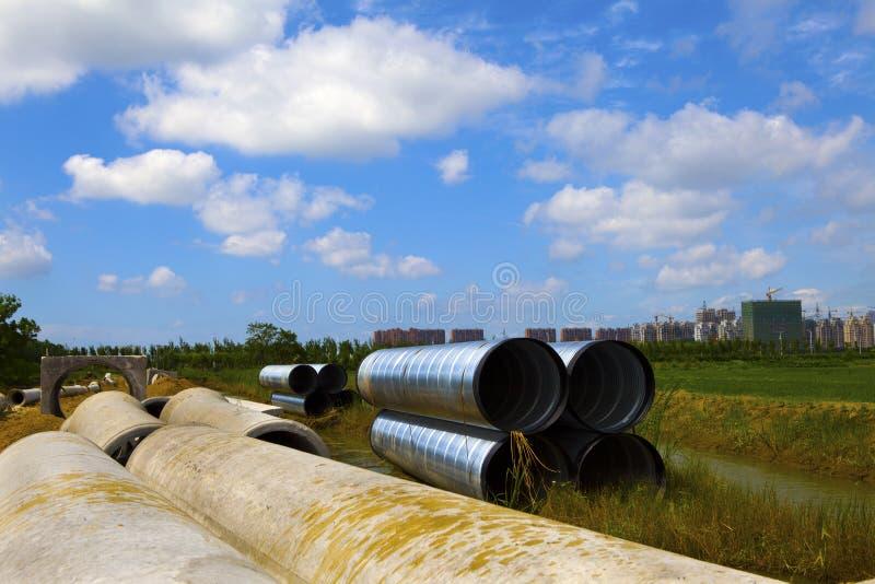 Canalisation de drainage image libre de droits