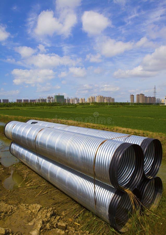 Canalisation de drainage photographie stock