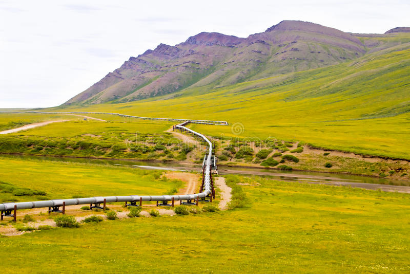 Canalisation de l'Alaska photo libre de droits