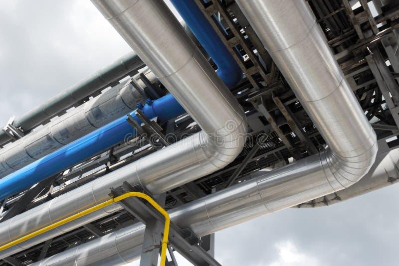 Canalisation de raffinerie image libre de droits