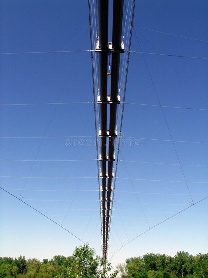 Canalisation de suspension photographie stock