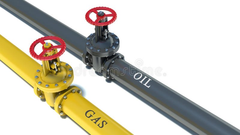 Canalisations de gas naturel et de pétrole illustration stock