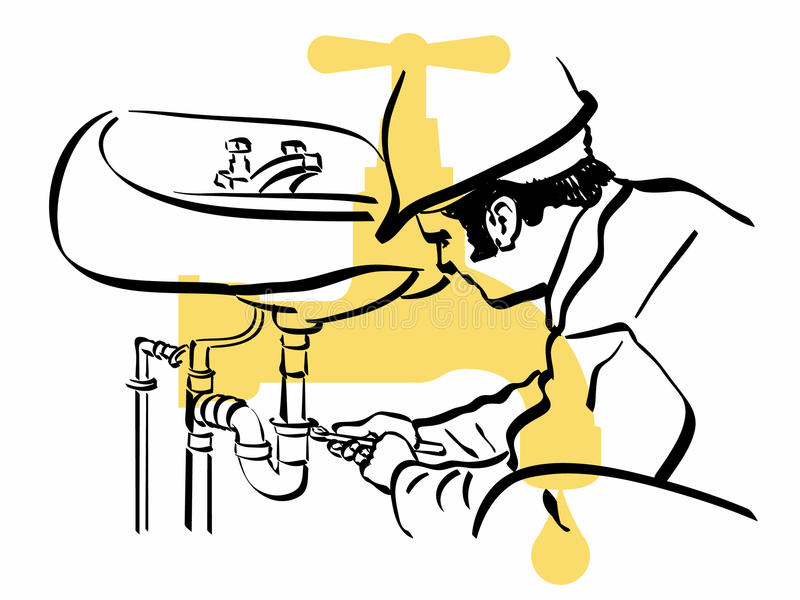 Canalizador ilustração do vetor