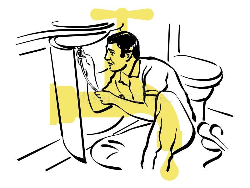 Canalizador ilustração stock