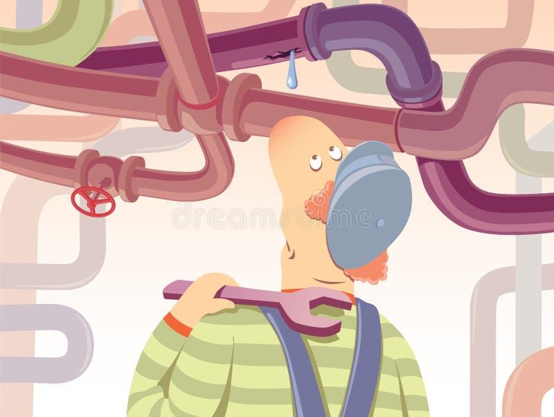 Canalizador. ilustração stock