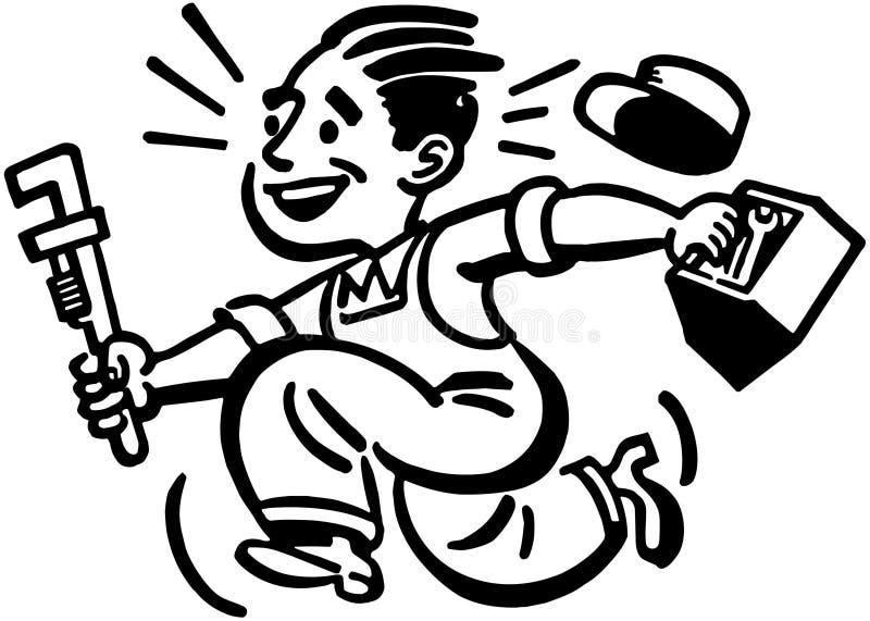 Canalizador feliz ilustração do vetor