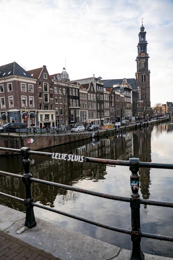 Canals of Amsterdam Holland. Amsterdam Holland The city of Amsterdam, capital of the Netherlands, is built on a network of artificial canals in Dutch: grachten stock images