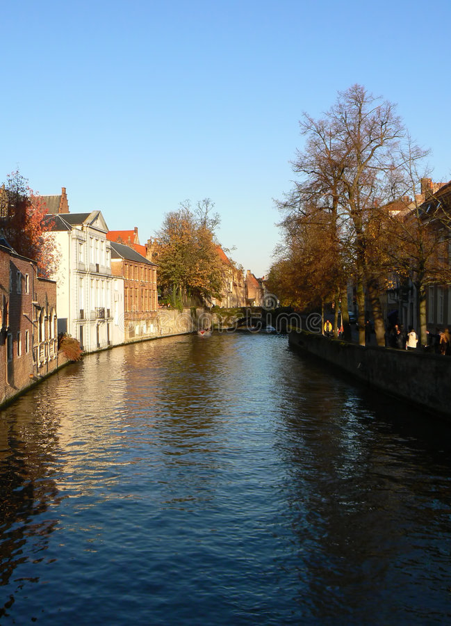 Canals of Bruges stock photo