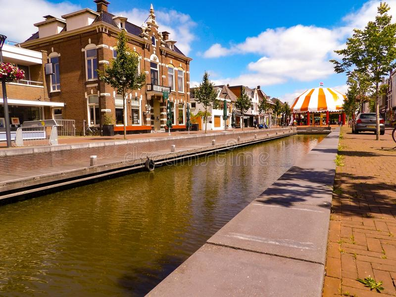 Canals of holland stock photography