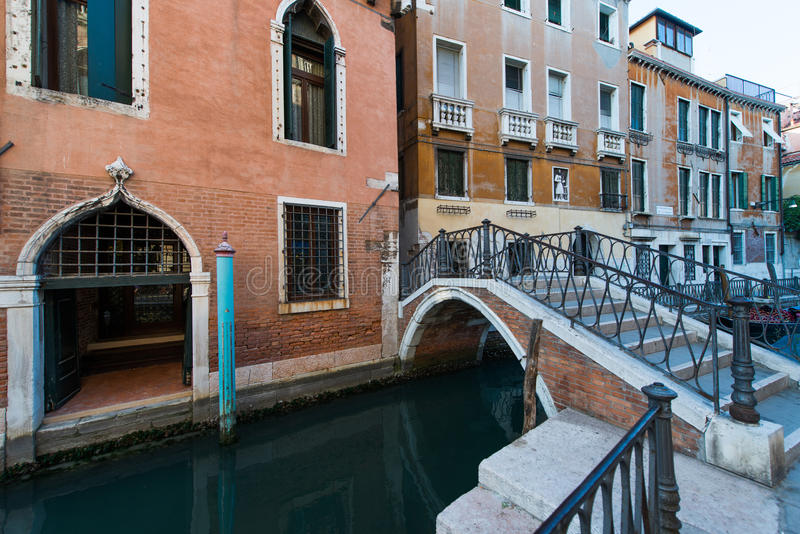 Canals of Venice, Italy. A bridge in one of the canals of Venice, Italy stock photo