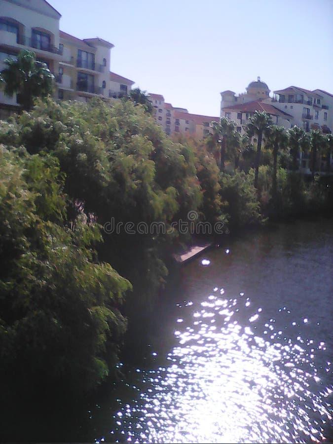 Canalwalk stad royaltyfri foto