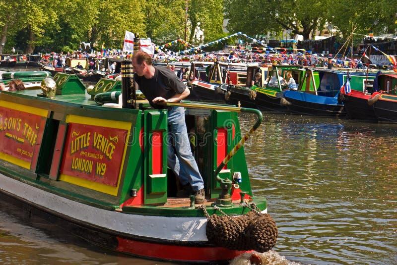 canalway καβαλλαρία narrowboats στοκ εικόνα