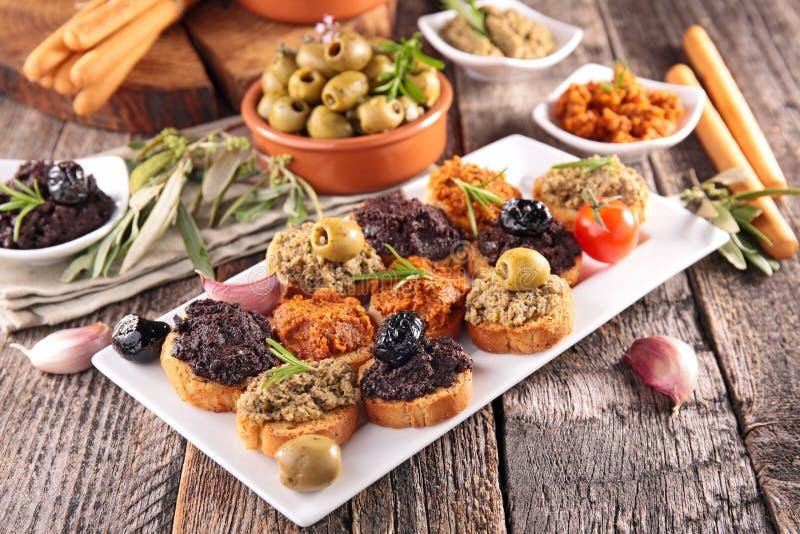 Canape, comida de la comida fría foto de archivo libre de regalías