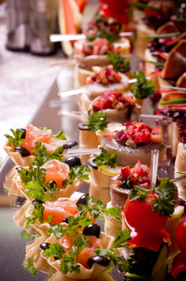 Download Canape for an event party stock image. Image of prepared - 28367091