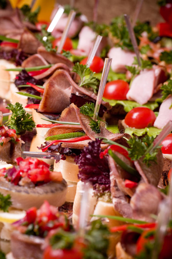 Download Canape for an event party stock photo. Image of fresh - 28367112