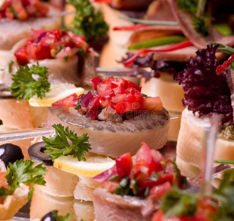 Download Canape for an event party stock photo. Image of horizontal - 28440972