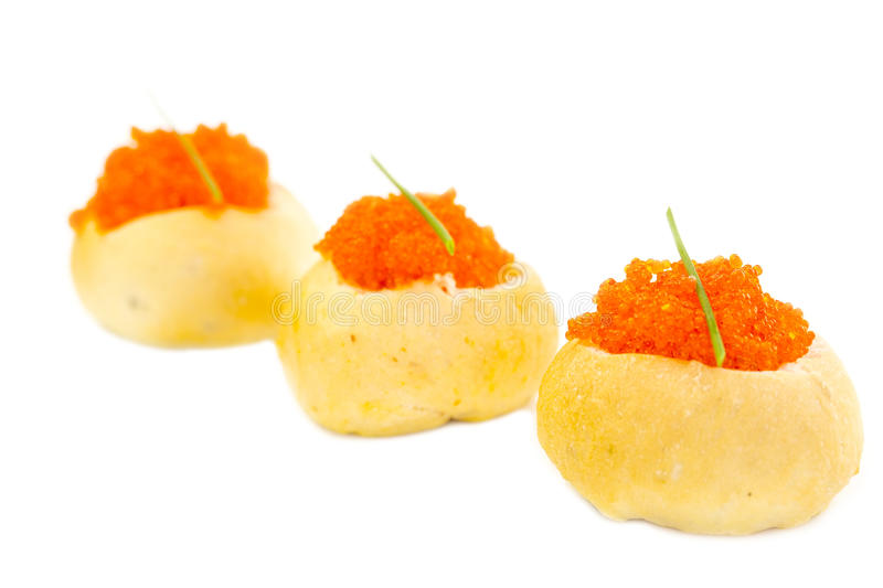 Canape. With meat vegetables and seafood stock photography