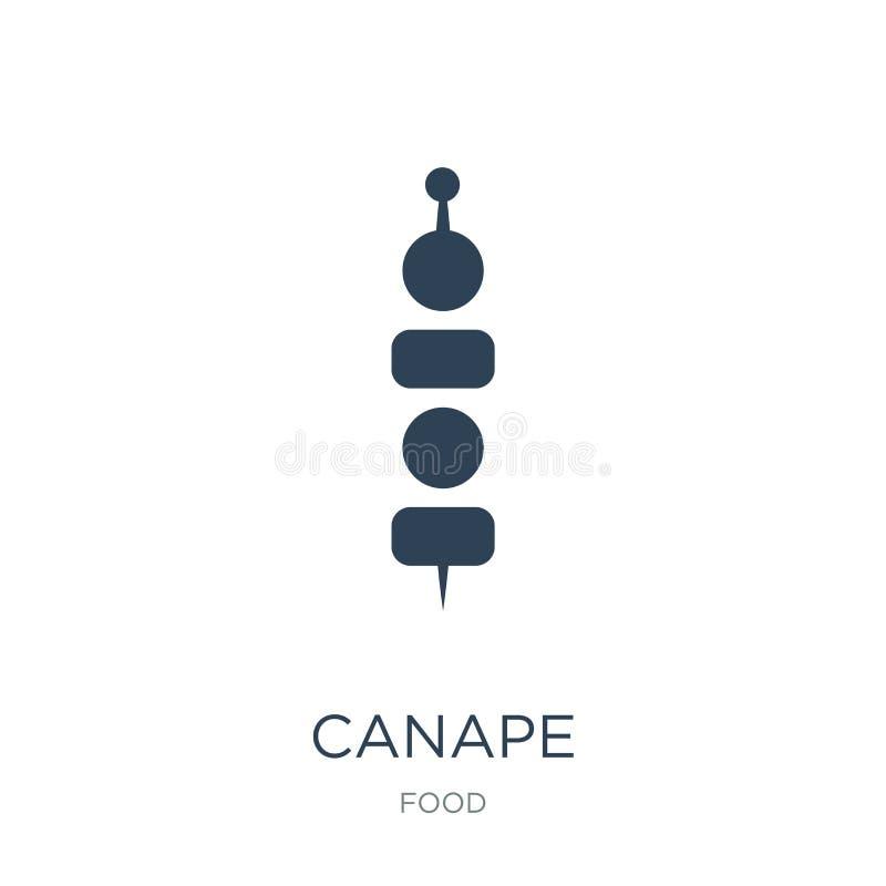 canape pictogram in in ontwerpstijl canape pictogram op witte achtergrond wordt geïsoleerd die canape vectorpictogram eenvoudig e royalty-vrije illustratie