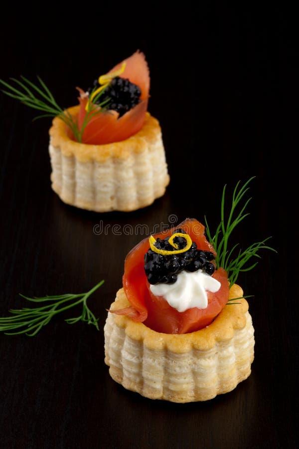 Canape preto do caviar imagem de stock royalty free