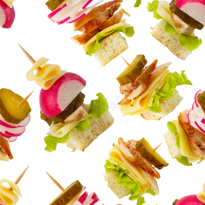 Free Canape Seamless Wallpaper Background Stock Photography - 14724612