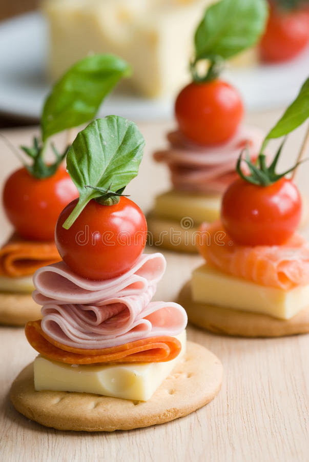 Canapes stock photography