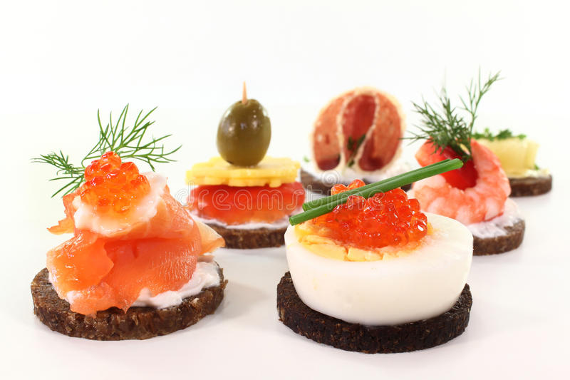 Canapes stock foto's
