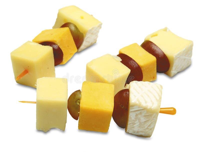 Canapes con formaggio fotografie stock