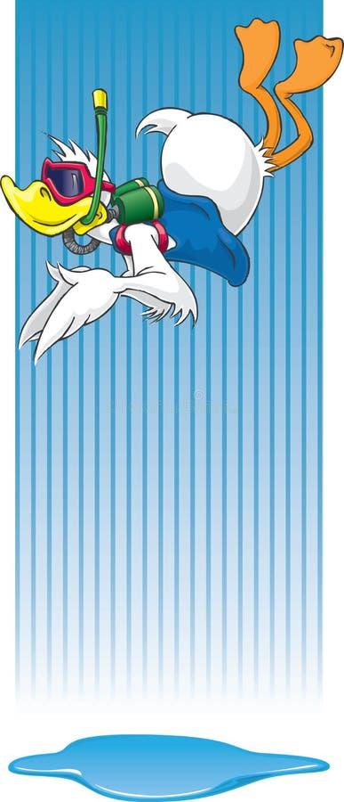 Canard à arroser illustration stock