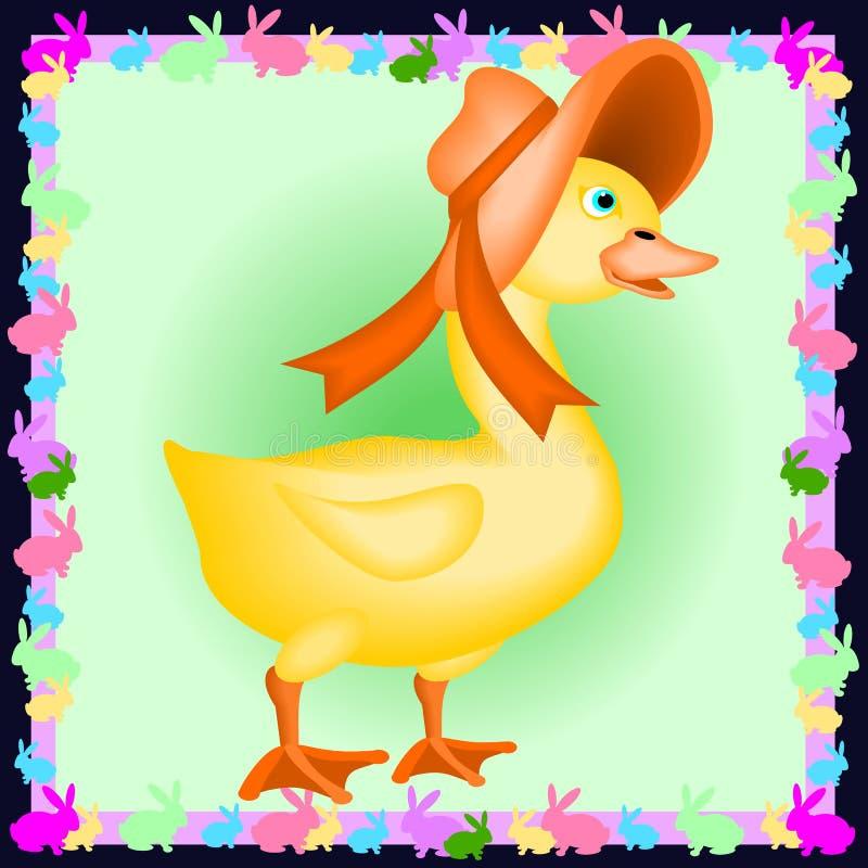 Canard de chéri avec un capot illustration de vecteur