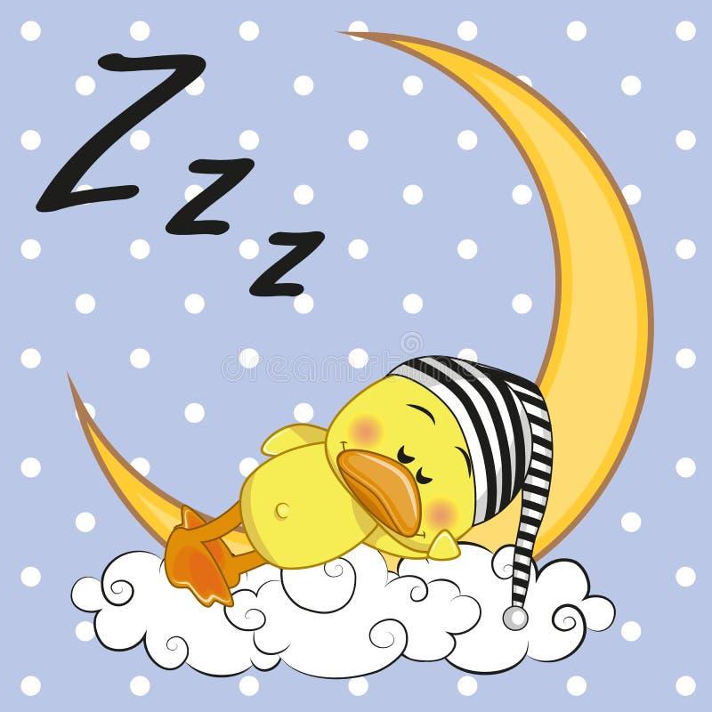 Canard de sommeil illustration de vecteur