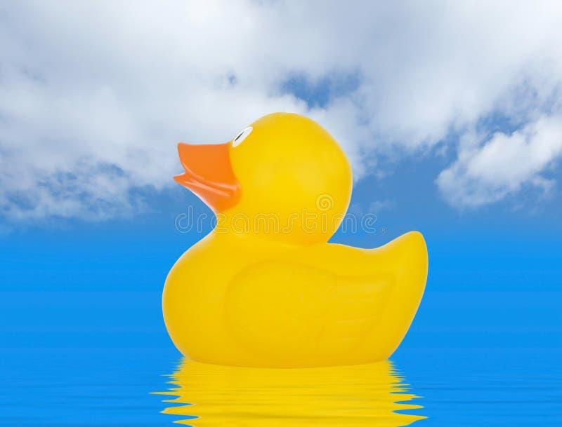 Canard en caoutchouc jaune photo stock